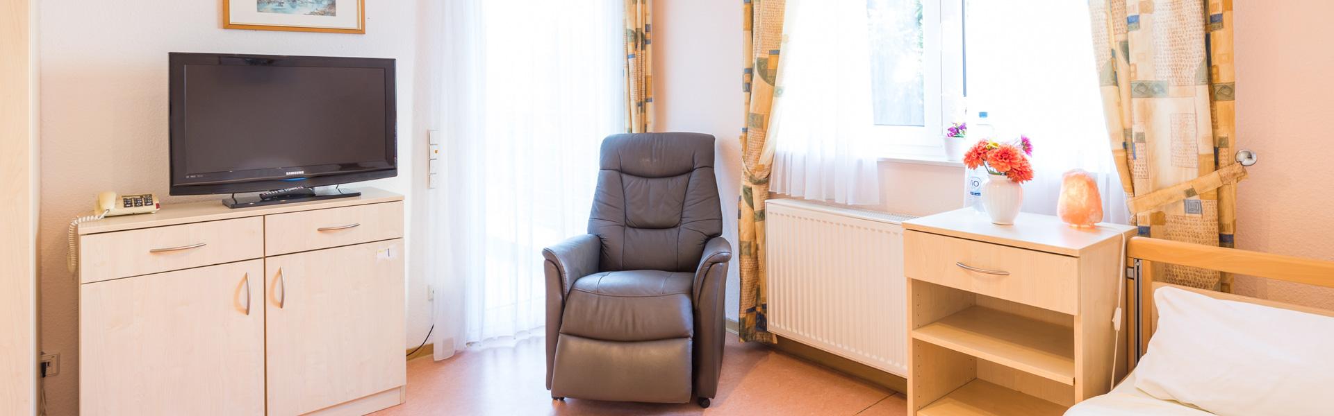 Ein Blick in ein Pflege-Zimmer